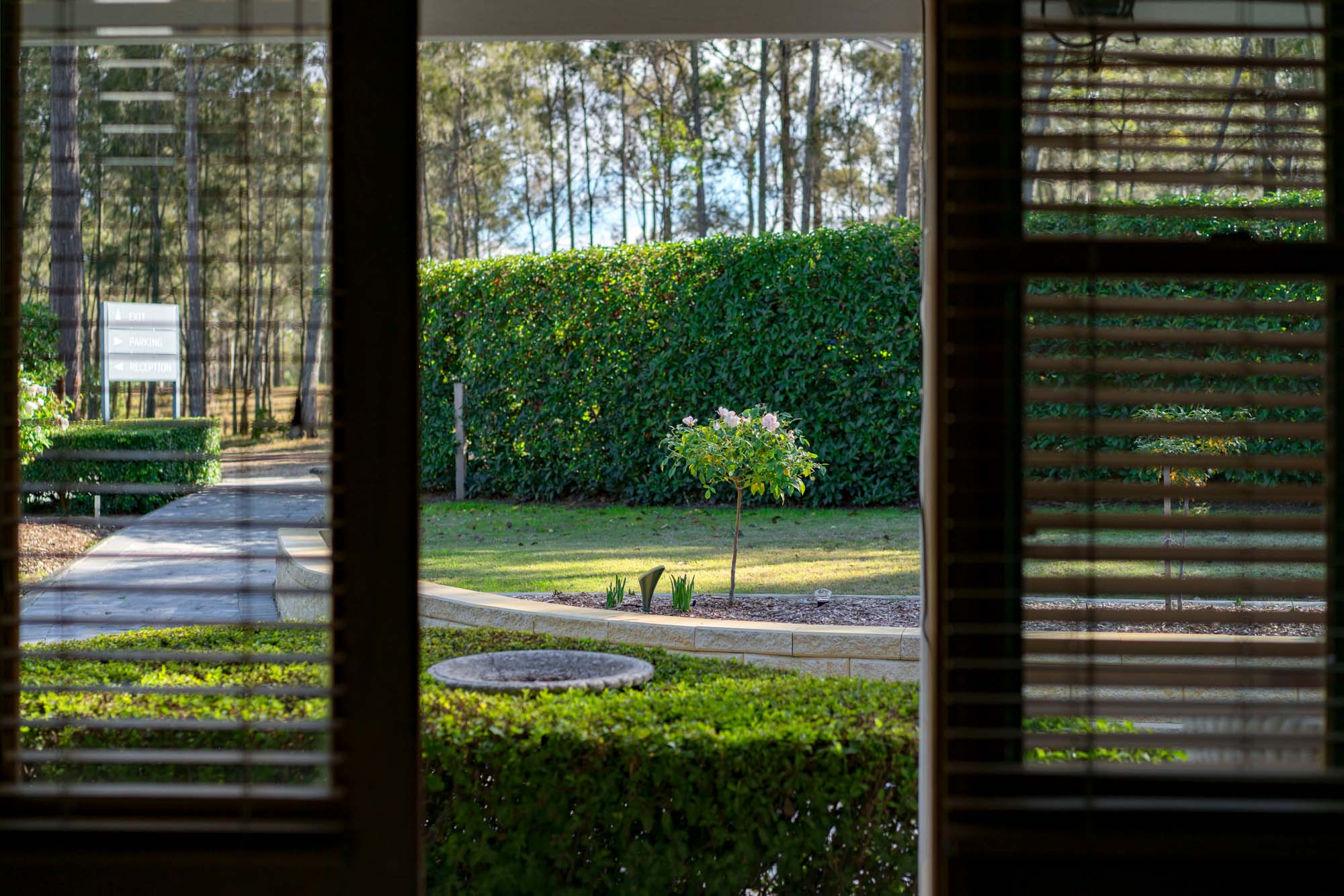 Thistle Hill Guest House - view through French doors